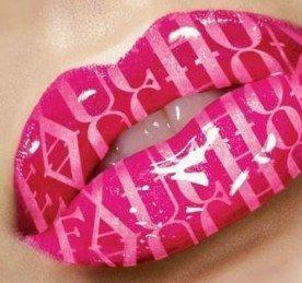 une bouche rose