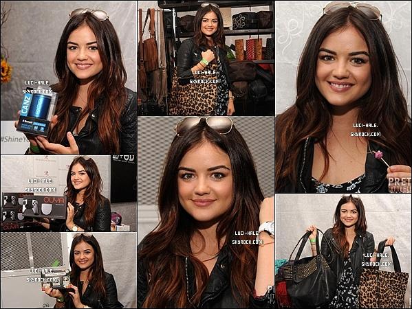 .  10/08/2013: Lucy a été aperçue une fois de plus quittant son cour de gym a Los Angeles .. Nous la retrouvons le soir même à l'évènement Creations Celebrity Retreat, précédant les Teen Choice 2013! Top/Flop? .