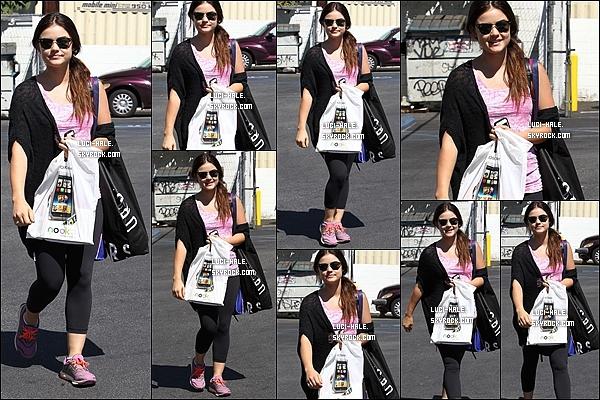 .  23/08/2013: Lucy a été aperçue faisant du shopping à Barnes & Noble à Toluca Lake, près de L.A. .