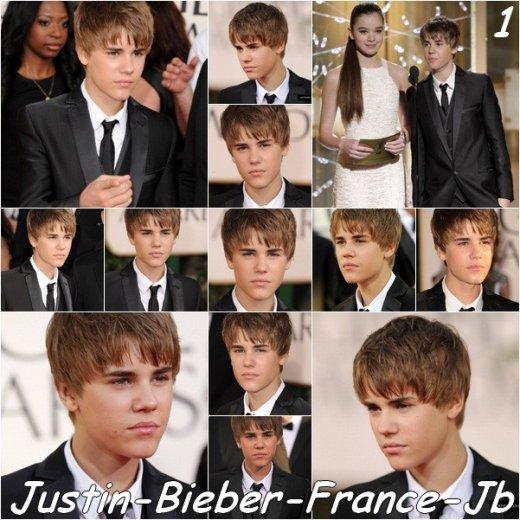 Justin Bieber au Golden Globe Award 2011.