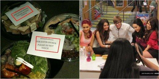 Justin Bieber sur le set de Victorious.