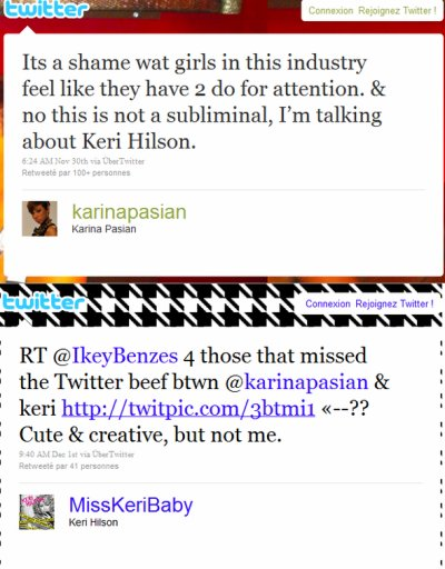 Karina s'exprime au sujet de la nouvelle vidéo de Keri Hilson