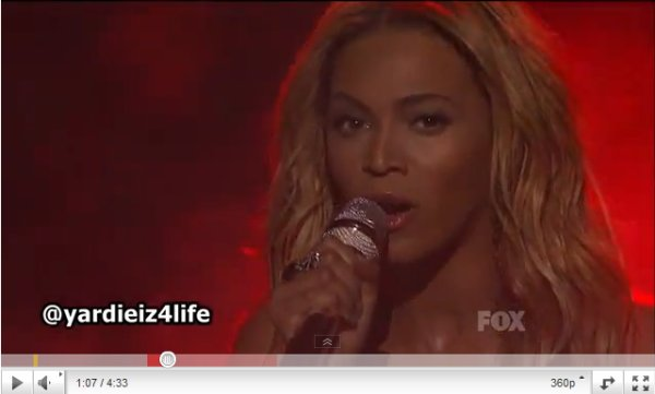 Beyonce performe CRAZY IN LOVE & 1+1 à American Idol