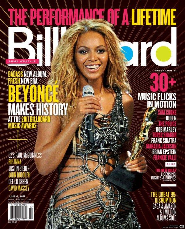 Beyoncé fera à nouveau la couverture du magazine BillBoard du mois de juin suite à sa prestation acclamée lors des Billboard Awards sur son premier single Run The World.