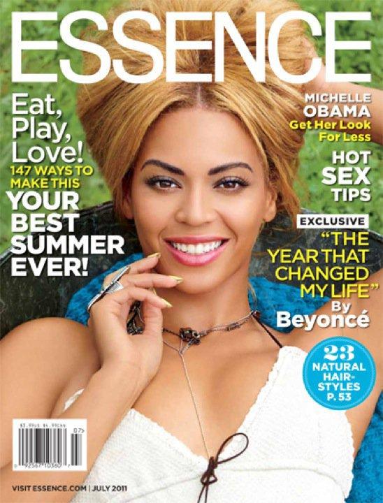 """Beyoncé fait la couverture du magazine """"Essence"""" du mois de Juillet"""
