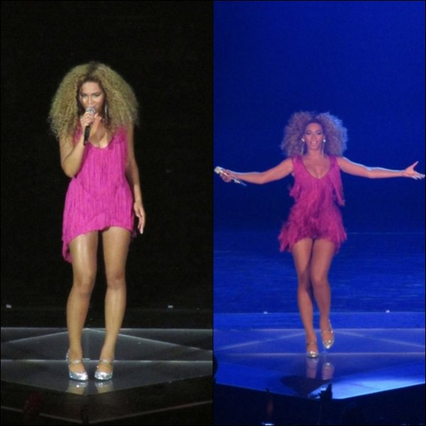Beyonce show in Nice