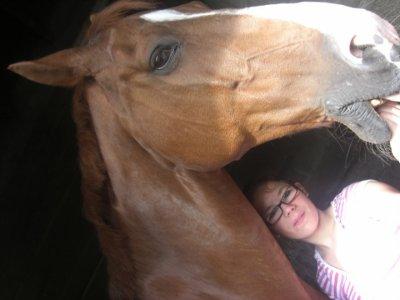 MooOi  et mOn bey damr de cheval =)