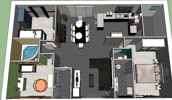 Plan 3d notre maison mikit et nous for Plans maison 3d