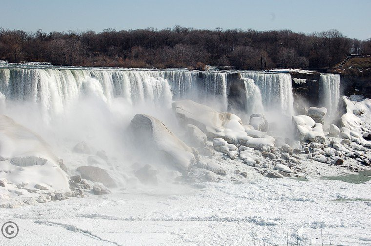 # Niagara Falls, March.