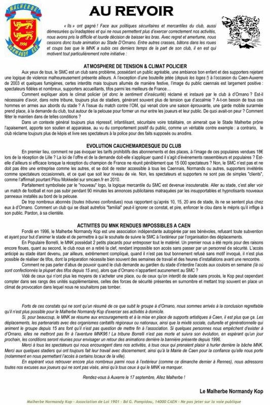 MNK suspend ces activités à d'Ornado !!