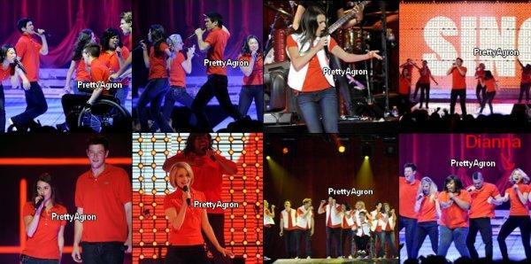 Glee Live! En Concert! est une tournée de concerts réalisés par les membres de la fonte de la série télévisée populaire, Glee . La tournée, créé par créateur de la série Ryan Murphy a été conçu en raison de la réponse massive à la série. Le spectacle a atteint l'Amérique du Nord , Le Royaume-Uni et l'Irlande . Murphy Etats série 'soundtrack le et concerts ont été une source de revenus supplémentaires pour la série.  La tournée a reçu une grande part de la critique des réponses à la fois la musique et les fans de la série. L'Amérique du Nord la première étape de la tournée en 2010 a été vu par plus de 70.000 spectateurs, générant plus de cinq millions de dollars de vente de billets-neuvième rang sur le Billboard Hot liste Tours. ALORS AVIS ?? TOP/BOF/FLOP :) Photo coups de coeur ♥♥ vous en pensez quoi ??