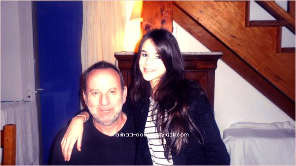 -  24 Fevrier : Marina Dalmas a publié une nouvelle photo d'elle et son papa     -