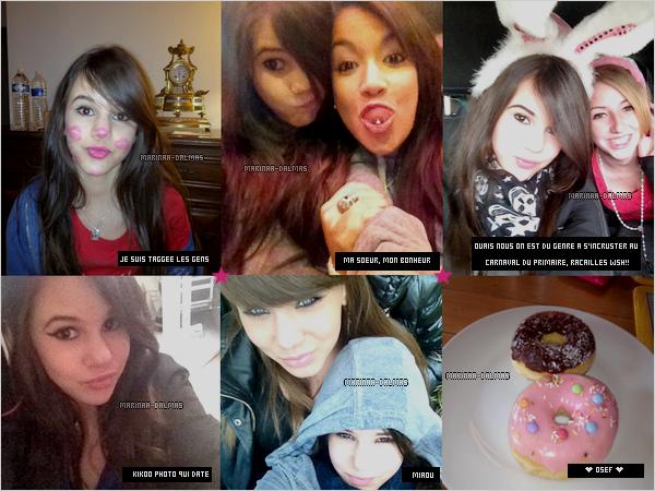 -  28/04 ▬ Marina DALMAS a postée quelques photos personnelles sur facebook !     -