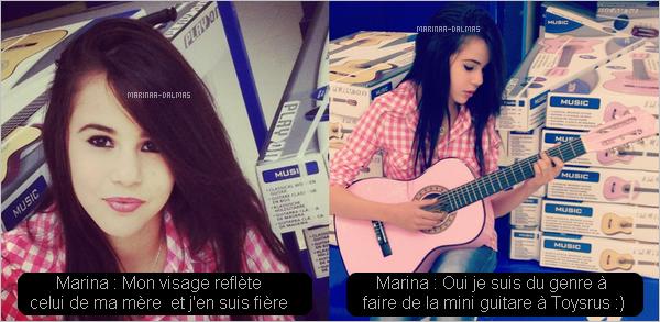 -  16/05 ▬ Marina DALMAS a publiée deux photos d'elle sur facebook.      -