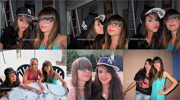 -  9/07 ▬ Hier, Marina DALMAS a passé une journée avec une de ses fan (ou plutôt amie..)     -