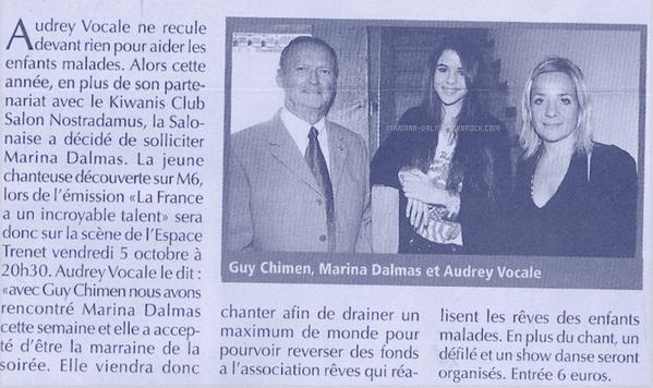 -  14/10 ▬ Marina DALMAS à étais interviwé par LE TALK sur C9 RADIO    -