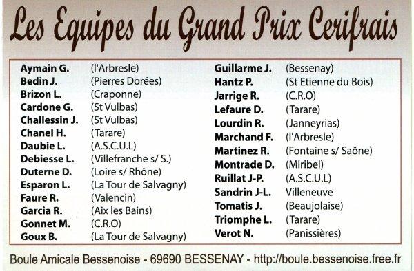 GRAND PRIX DE TARARE - 20.21 NOVEMBRE 2010 -  NOS EQUIPES LOCALES