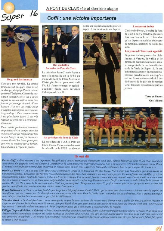 SPORT BOULES MAGASINE -  N° 210 - PAGE 13