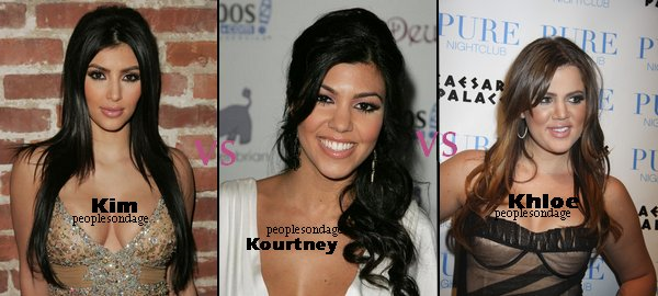 Kim Kardashian VS Kourtney Kardashian VS Khloe Kardashian Perso Kourtney ♥
