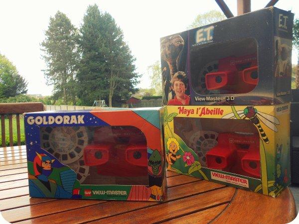 Rentrèes de la semaine! View master en Packaging boite fenêtre! 1979 à 82. celui de Goldorak fait maintenant partie de mes pièces les plus rare!