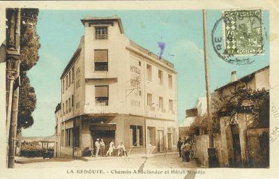 Lhotel Mitidja Angle Chemin Abd El Kader Et Rue Rouget De LIsle Carte 1937