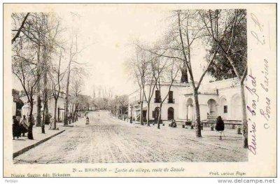 BIRKHADEM - La sortie du village - Route de Saoula...!
