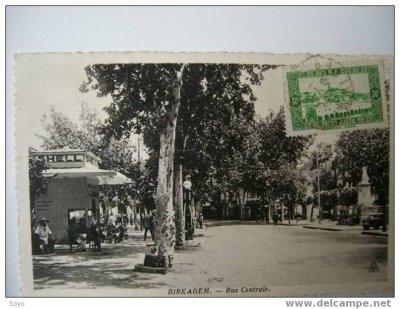 BIRKHADEM - Rue centrale et la pompe à éssence SHELL...!