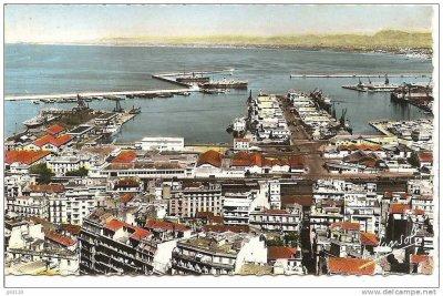 Alger - Une vue générale du port en 1950...!