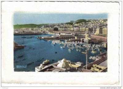 Alger - Vue générale du Port prise de l´Amirauté en 1960 édition