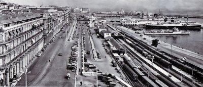 Vue panoramique boulevard Carnot, rampe Magenta, gare CFA et maritime