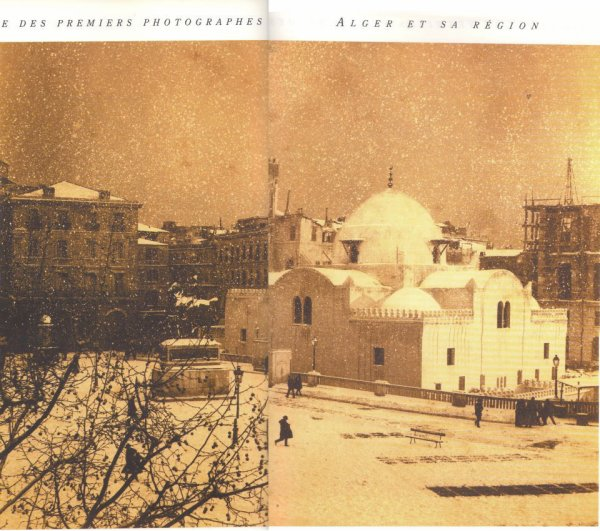 SAHET ECHOUHADA (Place des martyres) sous la neige...!!!