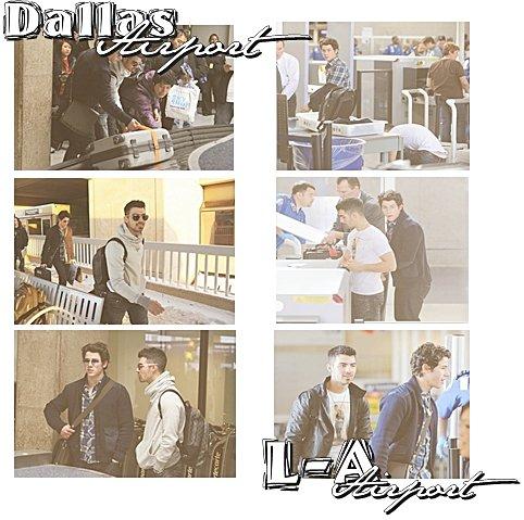 06.02.2011 : Joe & Nick partent pour Dallas + Soirées du Superbowl