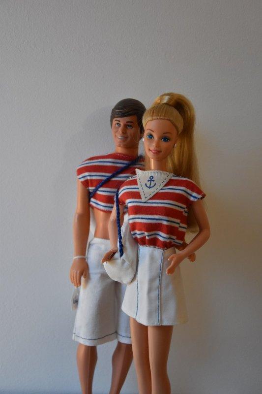 Barbie qui va aller faire du bateau avec Ken ...