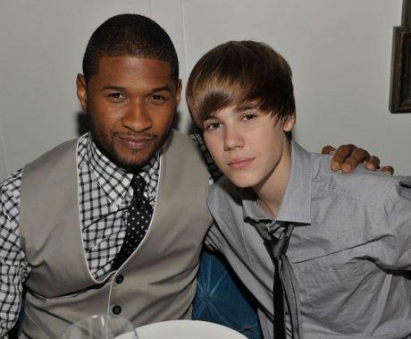 Usher donne des conseils a Justin