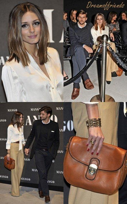 Olivia Palermo et son boyfriend, Johannes Huelb,  à la présentation de la collection S/S 2011 Mango à Madrid