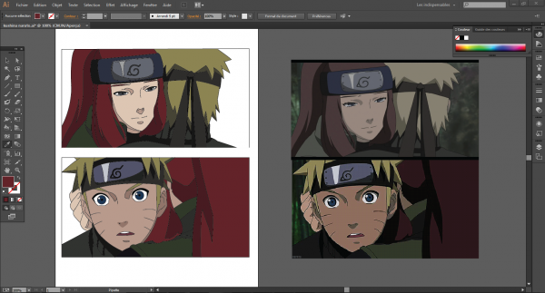 Kushina et naruto reproduction illustrator