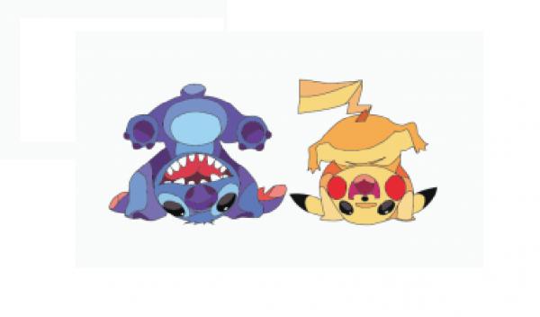 pikachu et stitch / illustrator