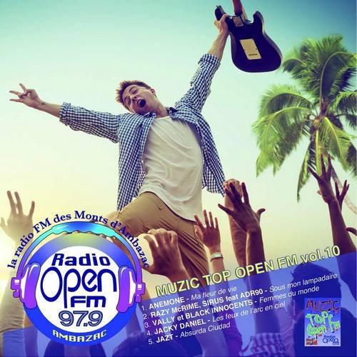 """Gagnant du classement """"Muzic Top Open FM""""."""