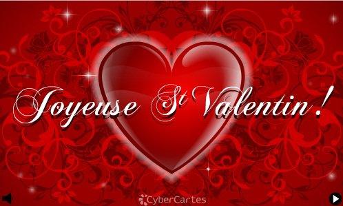 Bonne saint valentin à tous les amoureux du monde entier.