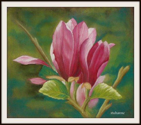Pour florelly73 pastel sec art floral bouquets et - Fleurs a dessiner modele ...