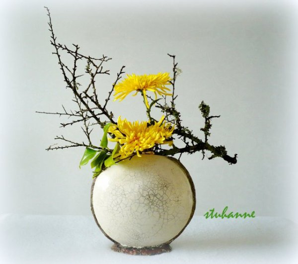 ikebana d 39 automne art floral bouquets et compositions. Black Bedroom Furniture Sets. Home Design Ideas