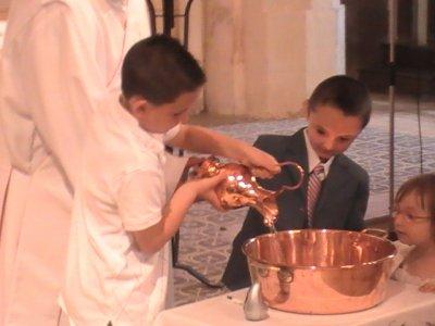 baptiste a son bapteme