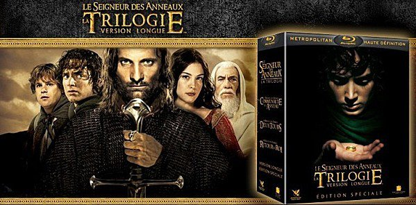 Coffret Blu-Ray versions longues trilogie Seigneur des Anneaux