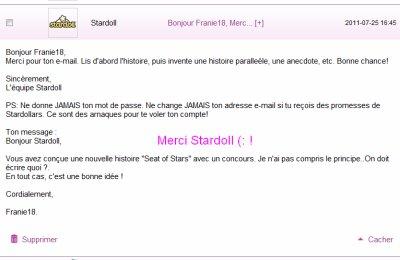 Réponse de Stardoll :P