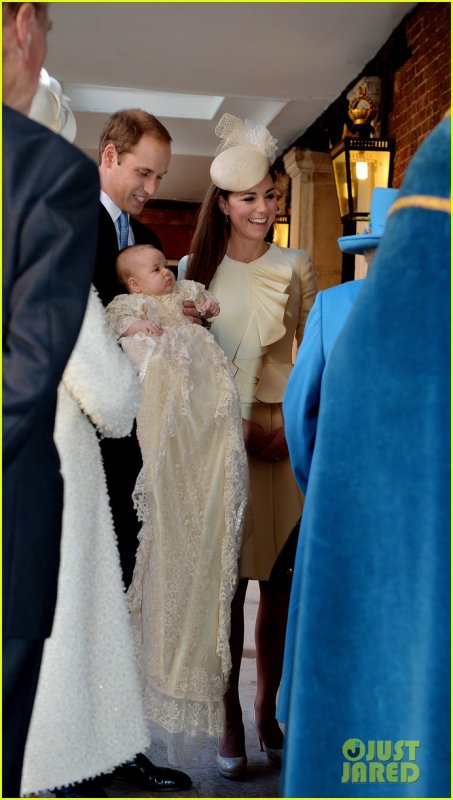 Duchess Kate and Prince William and Baby George.