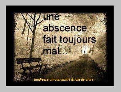Mais cette absence laisse toujours un goût..  aussi amer soit-il...