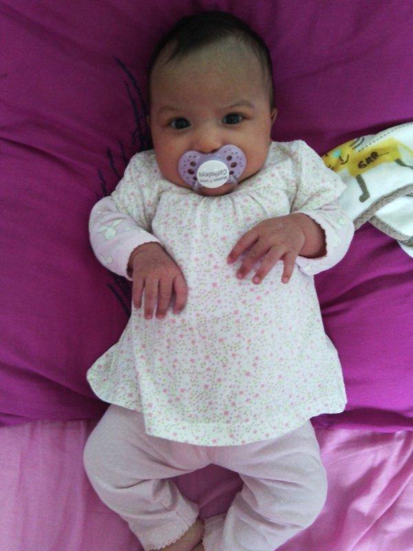 Ma fille cheri ki a un mois depui le lundi 16 juin