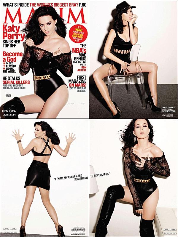 Katy posant pour le magasine Maxim pour Janvier 2011! Ne la trouves-tu pas trop vulgaire?