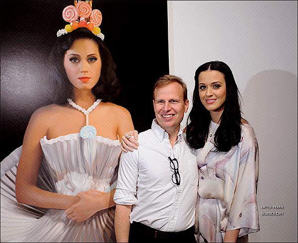 14 Janv. 2011 : Will Coton à présenté son tableau de Katy, c'est une des image de l'album Teenage Dream.