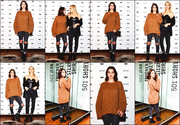 . ◊16/11/17:Adelaide Kaneétait présente pour le lancement de la nouvelle collection«Levi's»àLos Angeles! .